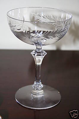 Tiffin Crystal Caresse Tall Sherbert Perfect Condition!