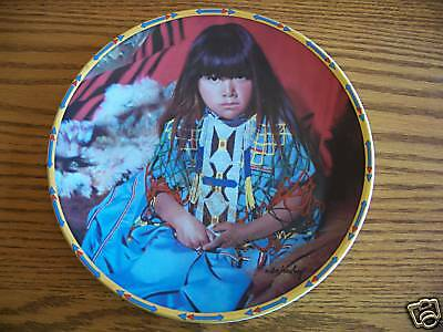 Lenox INDIGO GIRL Children of the Sun and Moon Plate Indian Native American