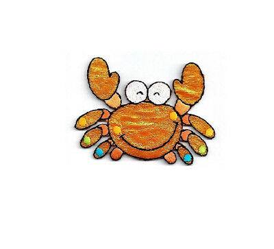 Crab - Beach -  Childrens - Shimmery Ocean Critter - Iron On Patch - L