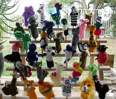 100 Brand New Knitted Finger Puppets PERU Alpaca, Farm, Sea Animals & Others