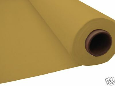 100ft GOLD Plastic Banquet Roll Table Cover Buffet