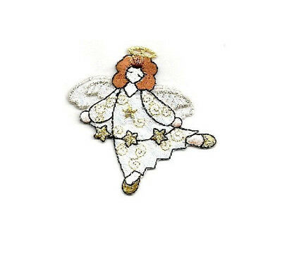 ANGEL FLOATING SHIMMERING IRON ON APPLIQUE