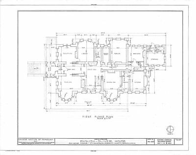 Victorian Romanesque Mansion, historic house plans