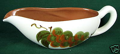 Stangl Pottery Gravy Boat Orchard Song Oven Proof USA