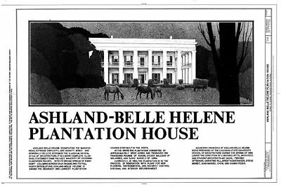 Ashland, an Antebellum Plantation, house plans