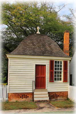 Williamsburg Colonial Brick Cottage - Detailed Plans