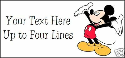 ~MICKEY MOUSE ~   Quality Lazer Address Labels!  Cute!