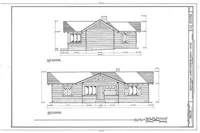 Home plans - Timber framed Craftsman, Shingle Style single story country house