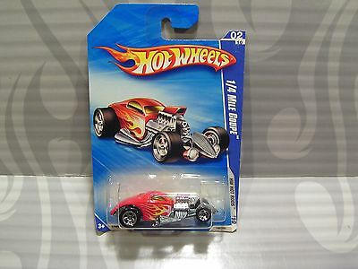 """2010 HOT WHEELS  """"HW HOT RODS"""" #138 = 1/4 MILE COUPE  = RED"""