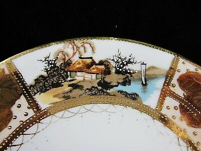 Nippon Gold encrusted  plate RARE  MARK Hand Paint