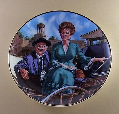 Gunsmoke MISS KITTY AND DOC  Plate Franklin Mint TV Television Show Old West