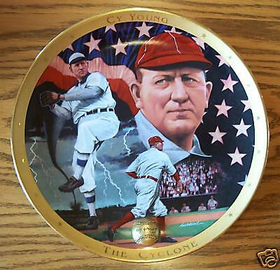CY YOUNG - THE CYCLONE Plate BASEBALL Franklin Mint