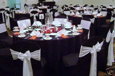 50 Wedding Satin Chair Covers For Sale Black New