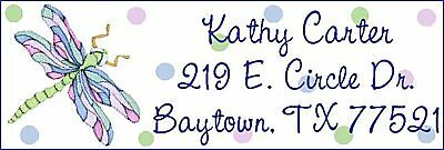 ~DRAGONFLY AND POLKA DOTS~ Lazer  Address Labels!