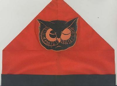 C 1940 Halloween Hat Pointed Top Decoration Owl