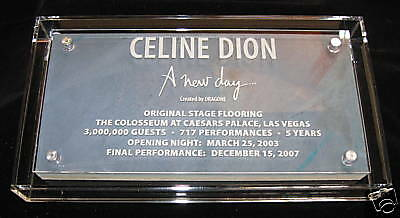 Celine Dion A New Day Colosseum stage piece