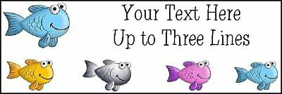 ~CUTE FISH SWIMMING BY~  Lazer Address Labels!