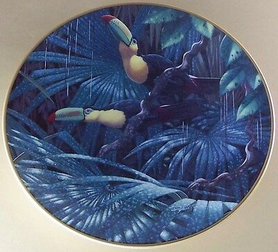 Miracles of the Rainforest SULPHUR BREASTED TOUCANS Plate Richard Sloan Tropical