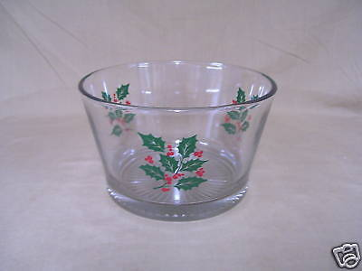 Indiana Crystal Holly Pattern Ice Bucket