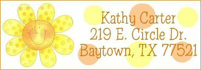 ~FLOWER AND POLKA DOTS~ Lazer  Address Labels! Cute!