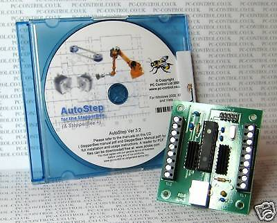 StepperBee: Stepper Motor Control from a PC's USB port