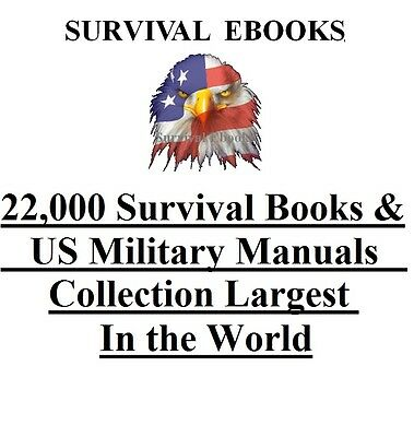 22,000 Military Manuals & Survival Books On 4 DVD DISKS