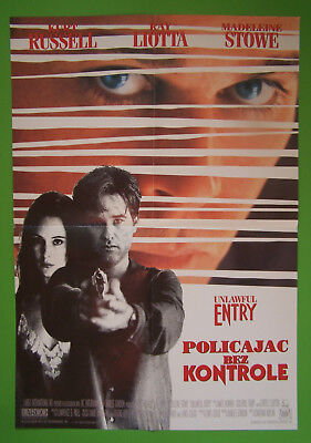 Unlawful Entry-Kurt Russell-Croatian Movie Poster 1992