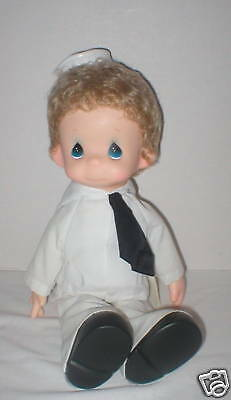 "Precious Moments 15"" The Lord Is My Captain boy doll NWT"