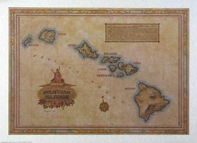 Antique Style  HAWAII MAP