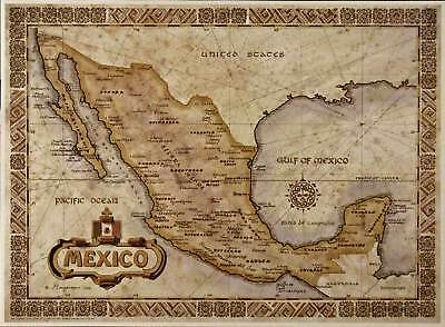 Antique Style MEXICO MAP