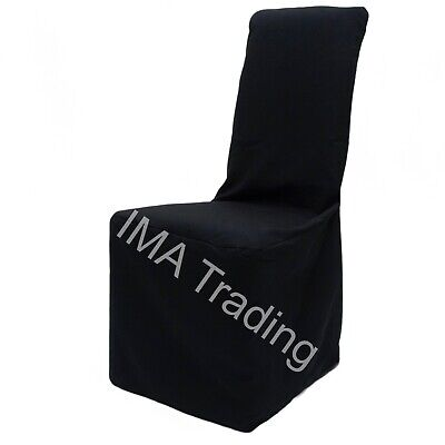 100 Black Chair Covers, Polyester Chair Covers, Square Top Chair Covers