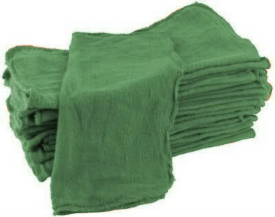 100 Industrial Shop Cleanup Rags / Towels Green 14''x13''