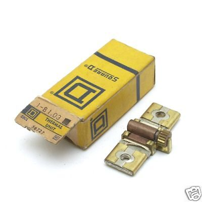 SQUARE D THERMAL OVERLOAD HEATER ELEMENT UNIT  B 1.03 NEW IN BOX