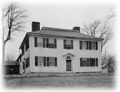 Federal style wood house, Traditional Colonial home, architectural blueprints