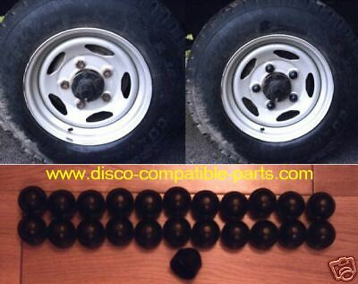 Land Rover Defender Plastic Wheel Nut Covers x 23