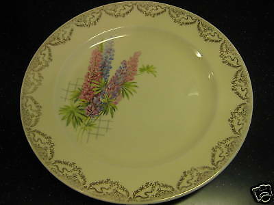 Steubenville Trend Plate Dish Flowers Lupines Floral