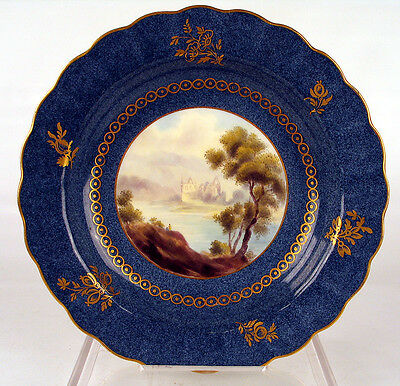 Worcester Plate Tintern Abbey Signed George Johnston