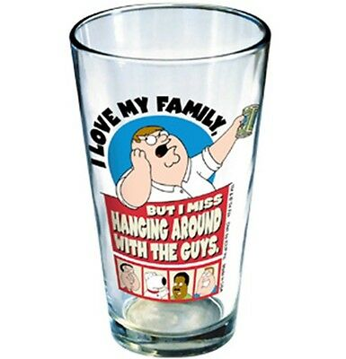 Family Guy Peter Hanging Around w/ The Guys Pint Glass