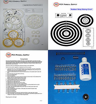 1981 Bally Eight Ball Deluxe Pinball Machine Tune-up Kit - Includes Rubber Rings
