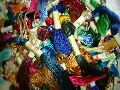 100% Silk, 30  Embriodery Floss/Threads 30 Colours
