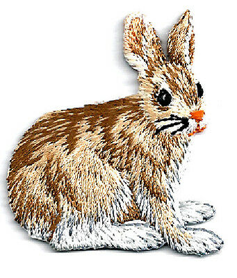 Rabbit - Bunny - Embroidered Iron On Applique Patch
