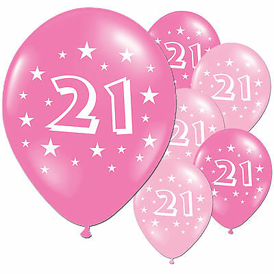 "40 Fuschia Pink 21st Birthday 11"" Pearlised Latex Balloons"
