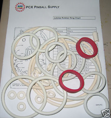 1973 Williams Jubilee Pinball Rubber Ring Kit