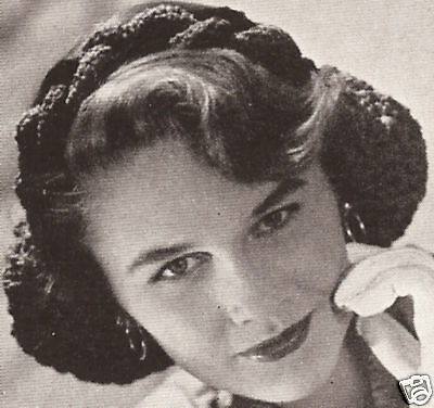 Vintage Crochet PATTERN to make Snood Braided Headband Hair Net Cap