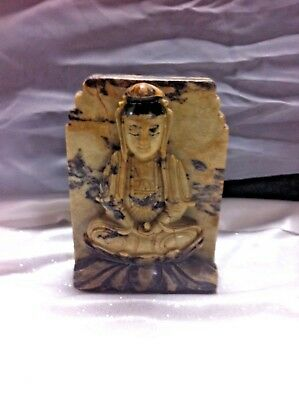 Antique Jasper Nepalese Temple Statue Buddah