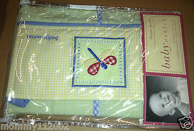 Baby Martex Lilly Pad DIAPER STACKER dragonfly green yellow lily NEW NIP