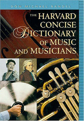 Harvard Concise Dictionary of Music & Musicians - Book