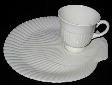 Wedgwood NAUTILUS Snack Plate and Cup Set, Shell Shape