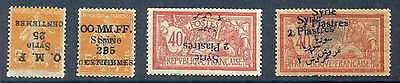 Syria Syrie 1922-1924 Inverted & Double Ovp Coll Mnh