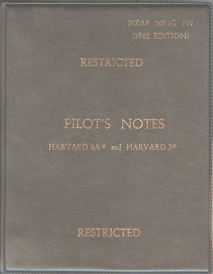 North American Harvard 2A And 3 / Rnzaf Pilot's Notes